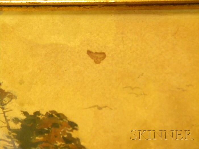 Samuel Peter Rolt Triscott (American, 1846-1925)      Old Spruce Trees, Monhegan