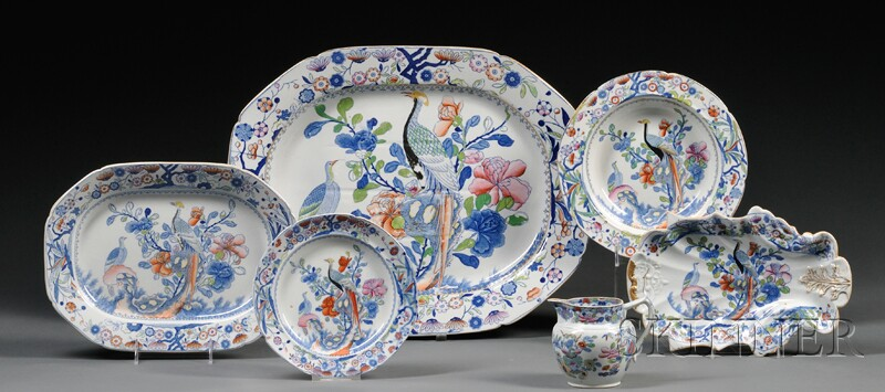 Seventy-one-piece English Ironstone Partial Dinner Service