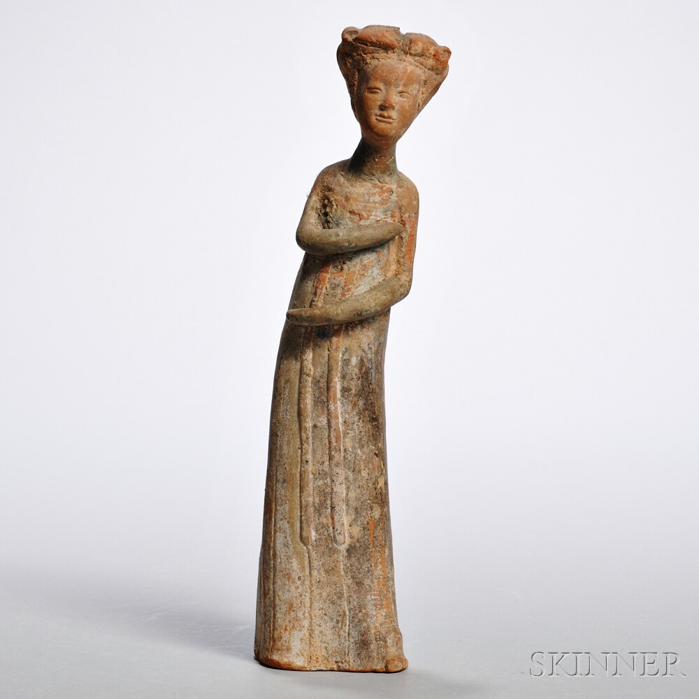 Pottery Figure of a Mourner