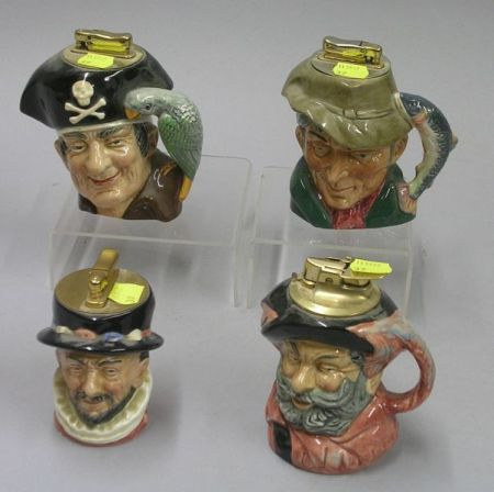 Four Royal Doulton Character Lighters