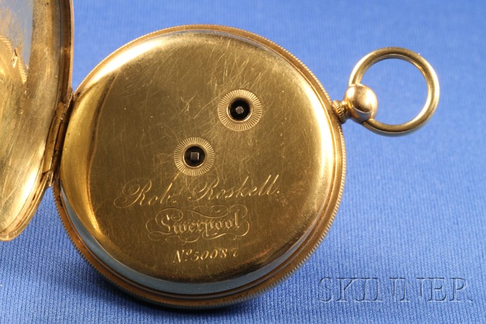 18kt Gold Lever Watch Signed Robert Roskell