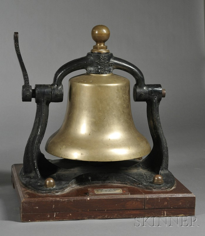 New York, New Haven, and Hartford Railroad Steam Locomotive Cast Bronze Bell