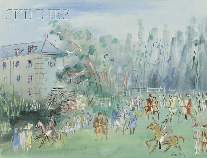 Jean Dufy (French, 1888-1964)      Chasse à courre à Preuilly-sur-Claise