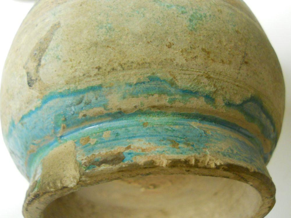 Pair of Archaic Stoneware Bottle Vases