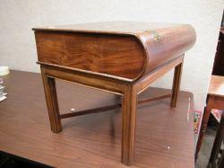 Mahogany Book-form Box on Stand.