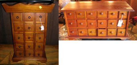 Modern Asian Eighteen-Drawer Hardwood Storage Chest.