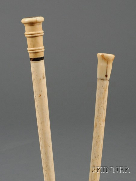 Two Whale Bone Canes