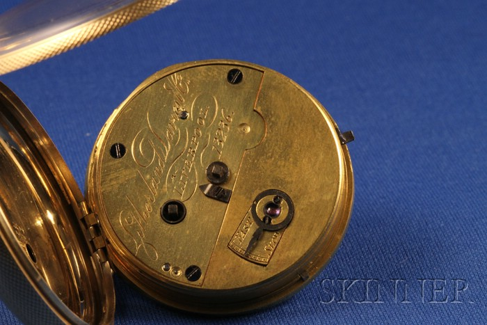 18kt Gold Cased Massey Lever Watch by Litherland, Davies & Company