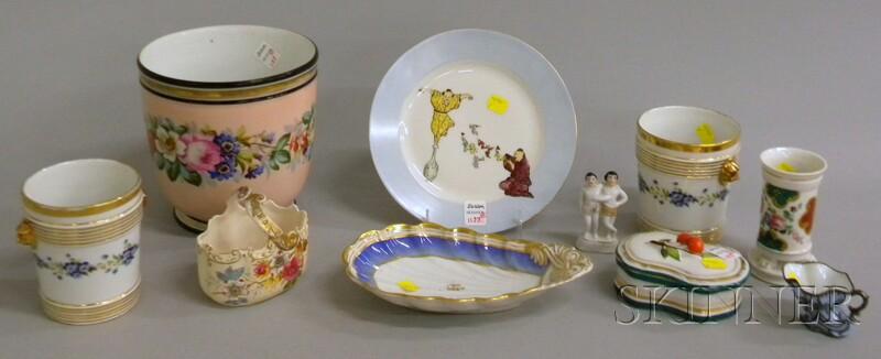 Ten Assorted Decorated European Porcelain Items
