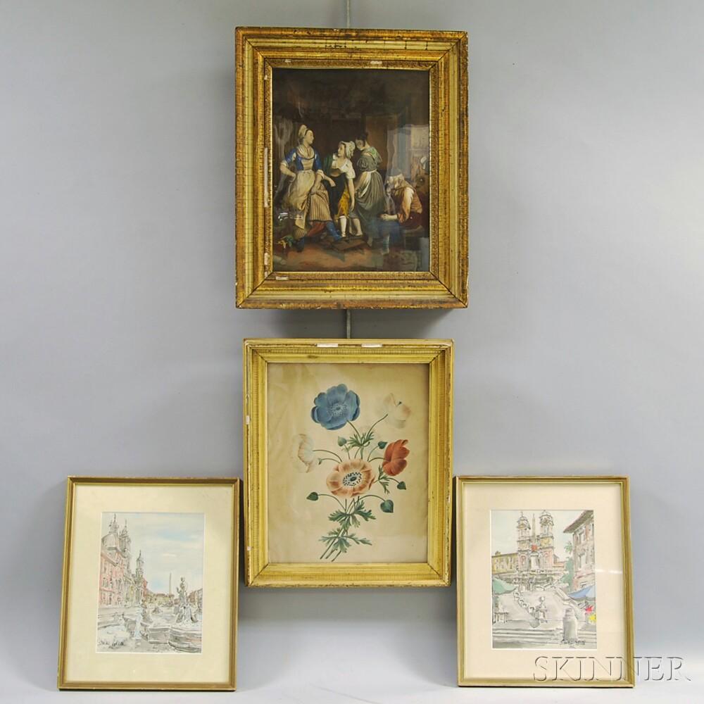 Four Framed Works