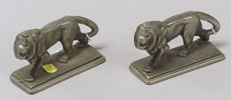 Pair of Figural Steel Bookends