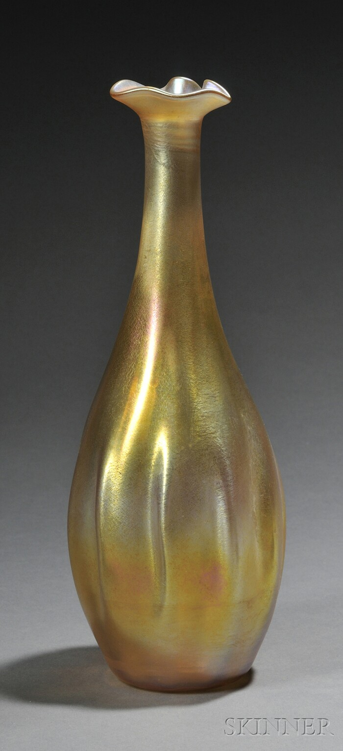 Tiffany Gold Favrile Vase