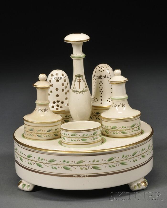 Wedgwood Queen's Ware Cruet Set