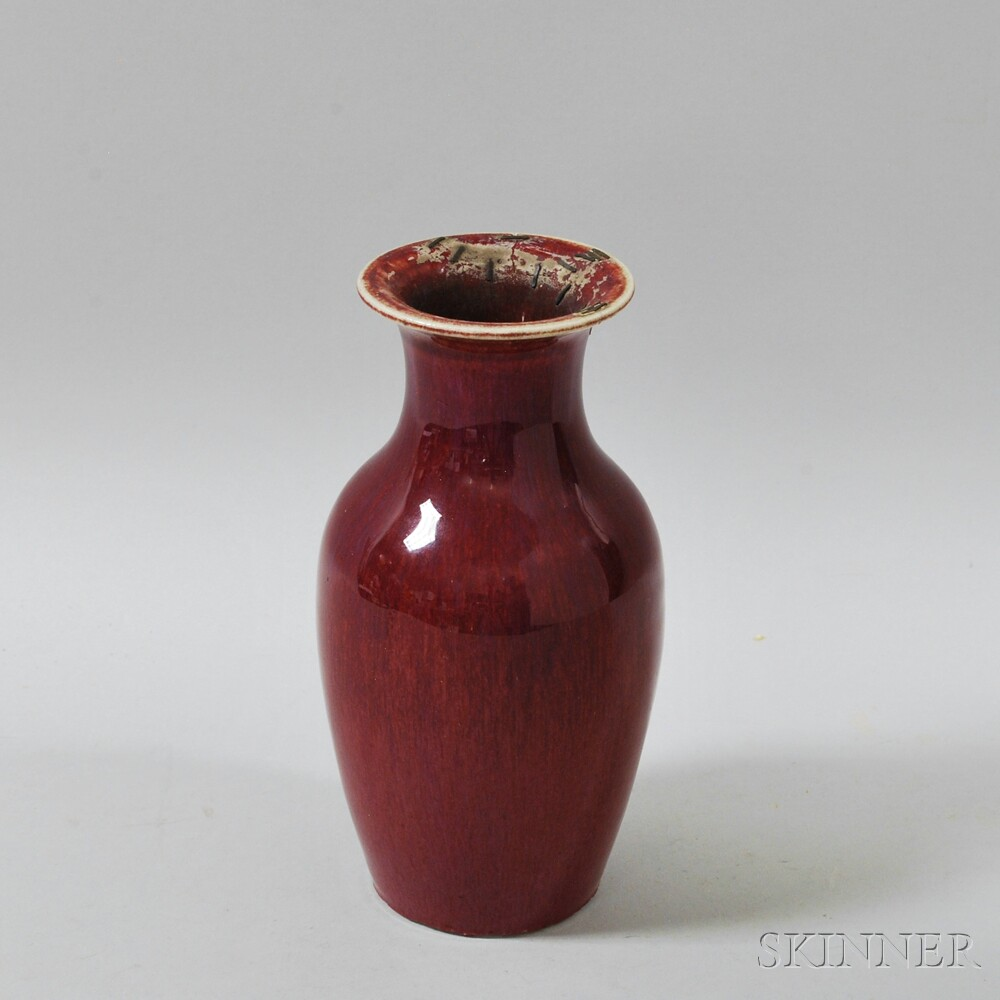 Chinese Oxblood-glazed Vase