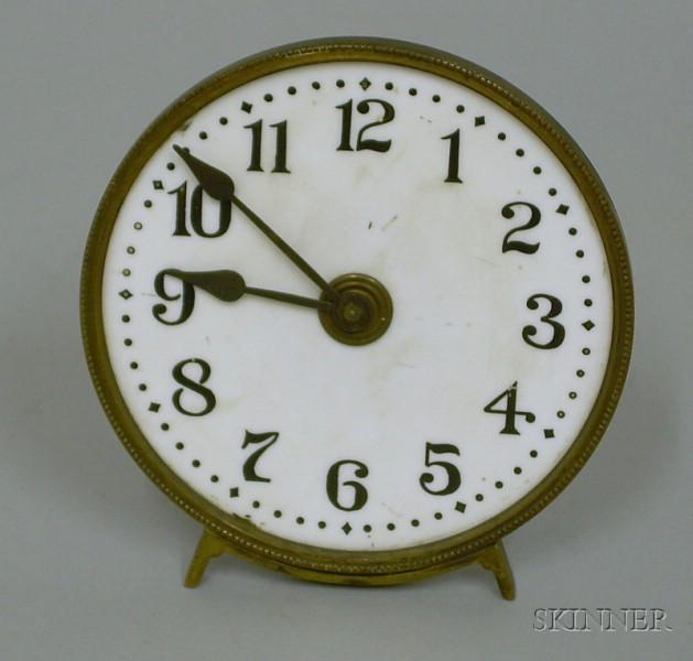 Illuminated Glass Gas Lamp Clock
