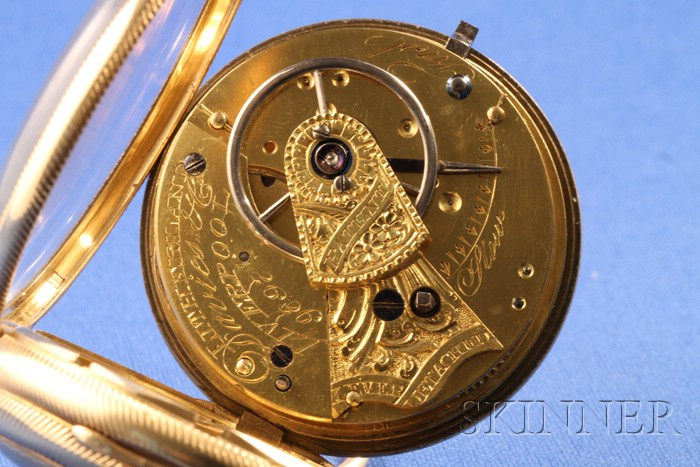 18kt Gold Massey Lever Watch by Litherland, Davies & Company