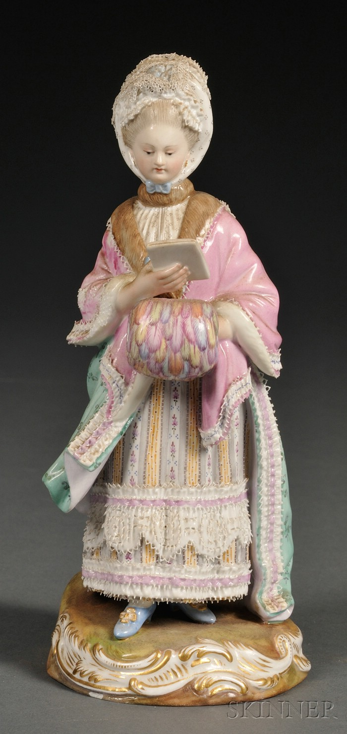 Meissen Porcelain Figure of an Elegant Lady with a Letter