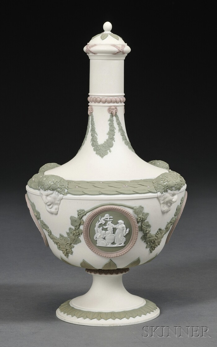 Wedgwood Three-color Jasper Barber Bottle and Cover