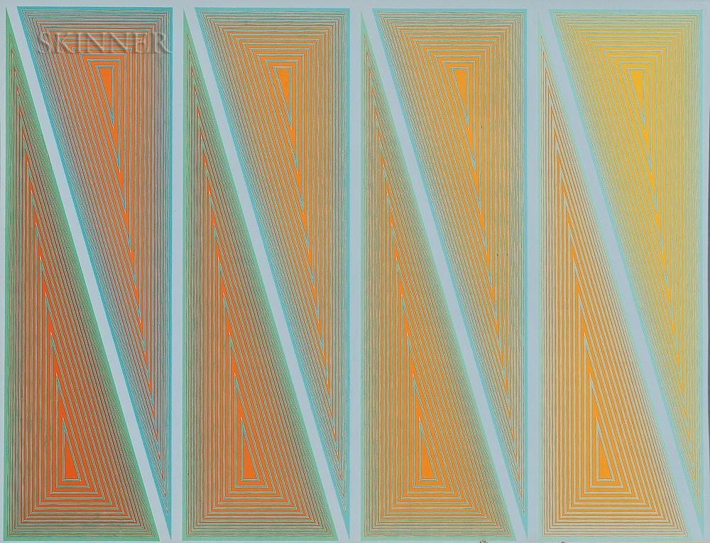 Richard Anuszkiewicz (American, b. 1930)      Burning Bright