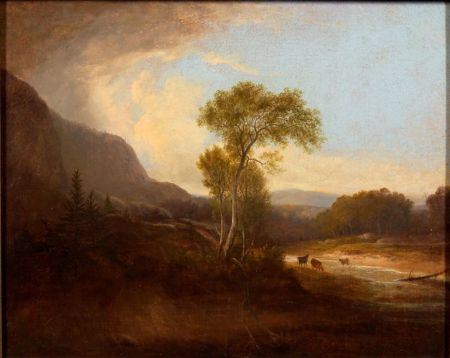 Attributed to Charles Codman (American, 1800-1842)    Cows in a Mountainous Landscape