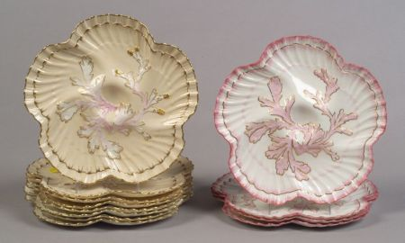 Twelve Brownfield's China Oyster Plates