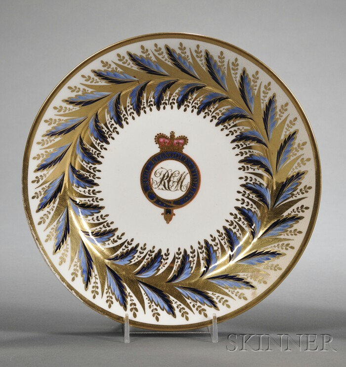 Twelve Crested Derby Porcelain Plates