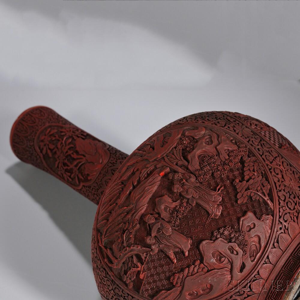 Cinnabar Vase