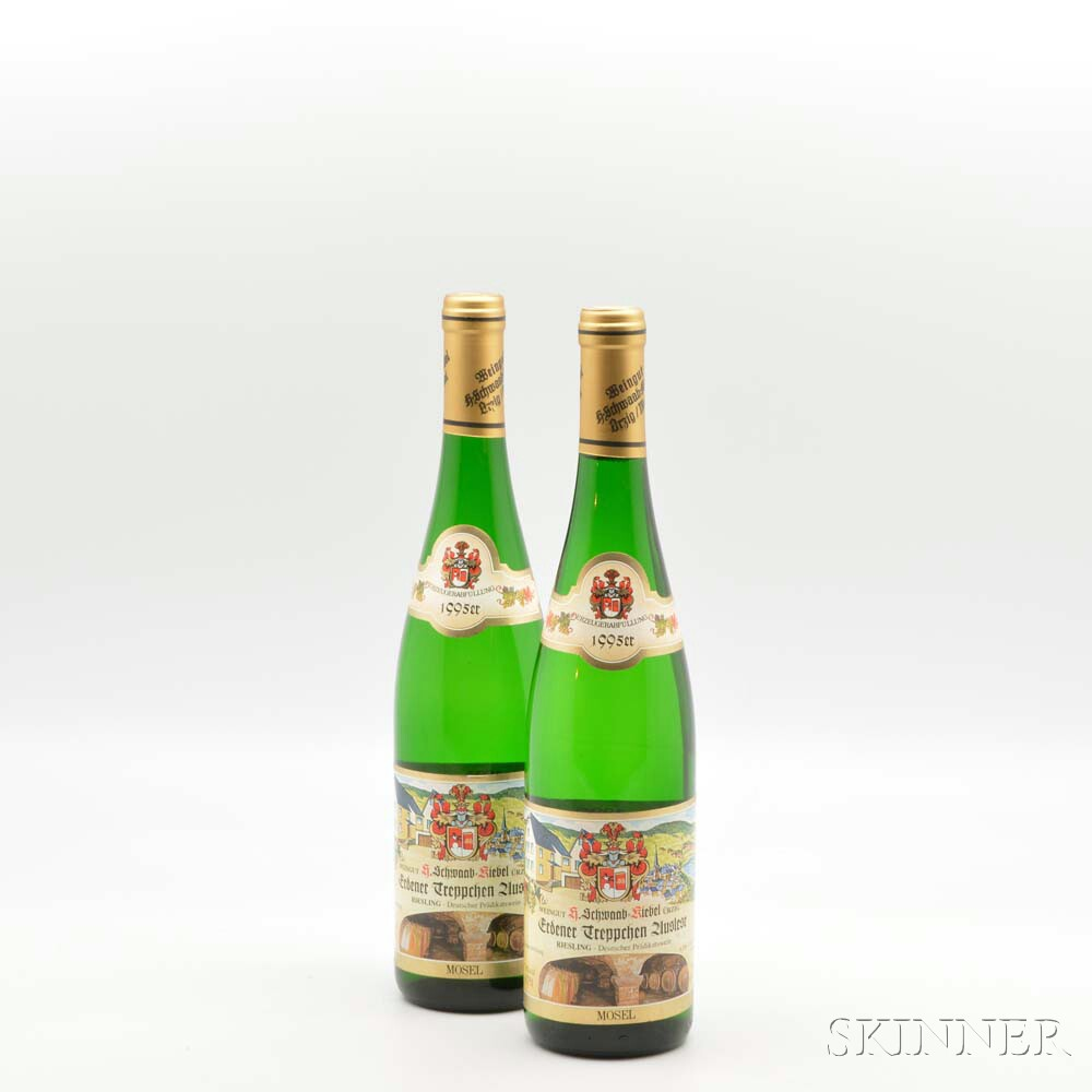 H. Schwaab Kiebel Erdener Treppchen Riesling Auslese 1995, 2 bottles