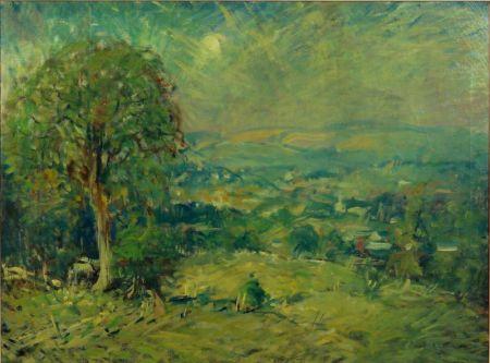 Arthur Clifton Goodwin (American, 1866-1929)    Rolling Hills/A Weston, Vermont View