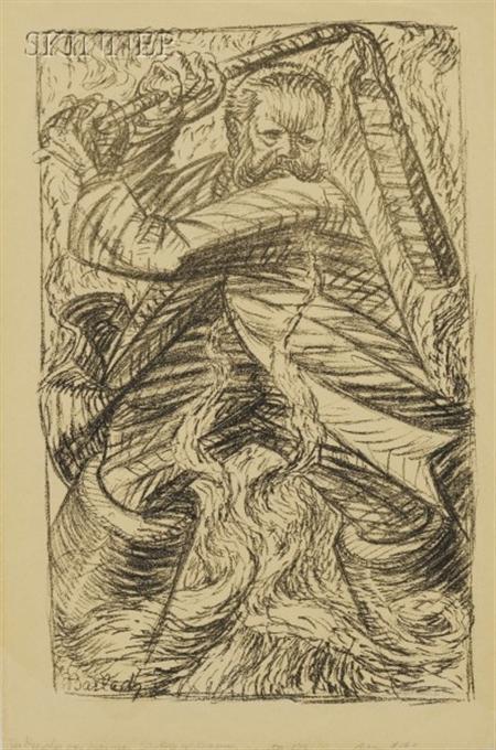 Ernst Barlach (German, 1870-1938)      Der Drescher von Masuren