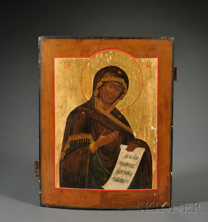 Russian Icon of the Diesis Mother of God