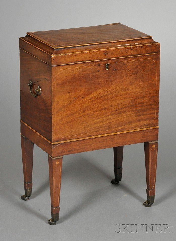 Regency Inlaid Mahogany Cellarette