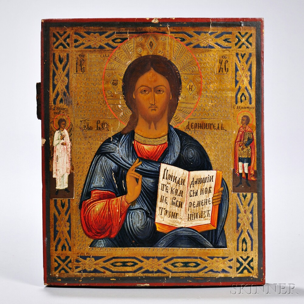 Russian Icon Depicting Christ Pantocrator