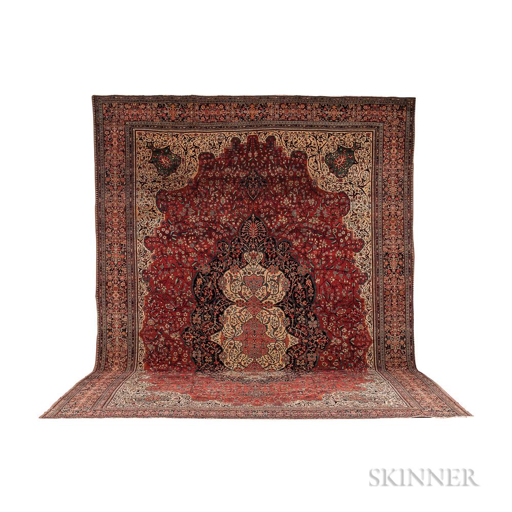 Antique Fereghan Sarouk Carpet