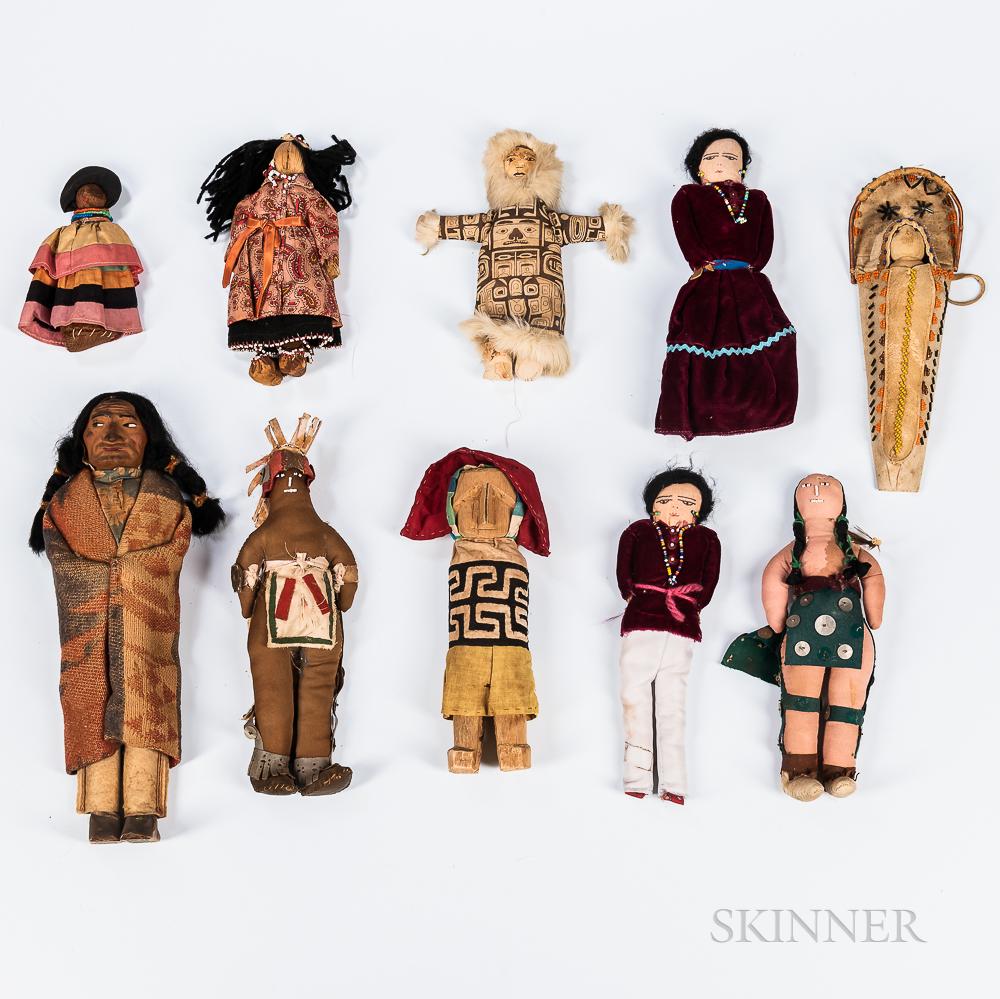 Group of Ten Indian Dolls