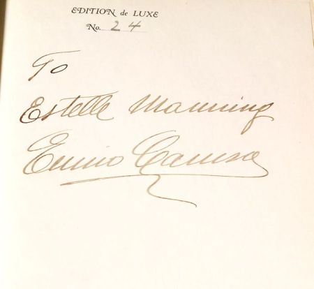 Caruso, Enrico (1873-1921), Signed copy