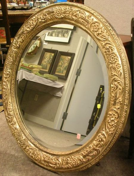 Italian-style Silver Gilt Gesso Mirror with Beveled Glass