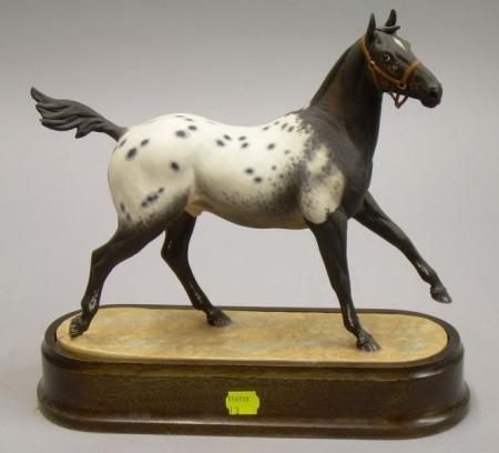 Royal Worcester Bone China Appaloosa Stallion