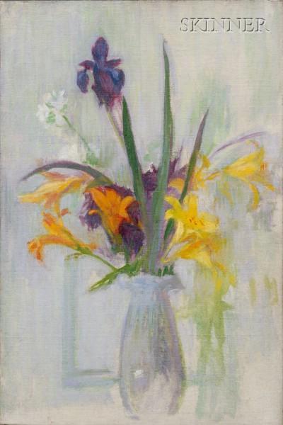 Ellen Day Hale  (American, 1855-1940)      Iris and Lilies