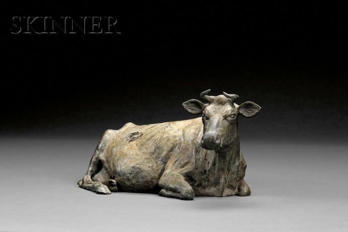 J. Clayton Bright (American, b. 1946)      Resting Cow