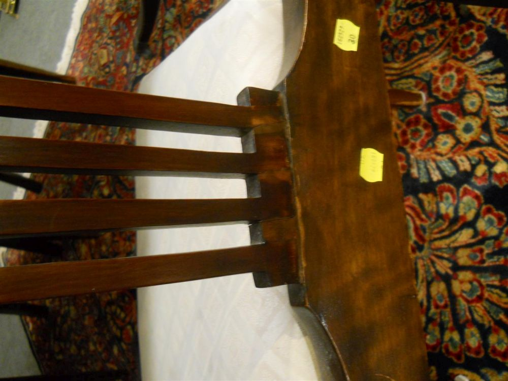 Regency-style Double-pedestal Dining Table and Six Chairs