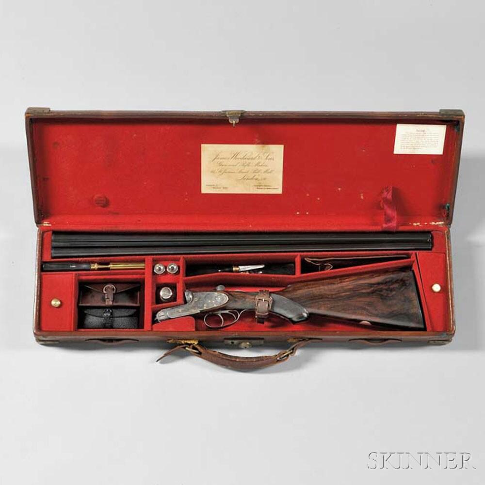 James Woodward & Sons 16 Gauge Double-barrel Shotgun with Maker's Case