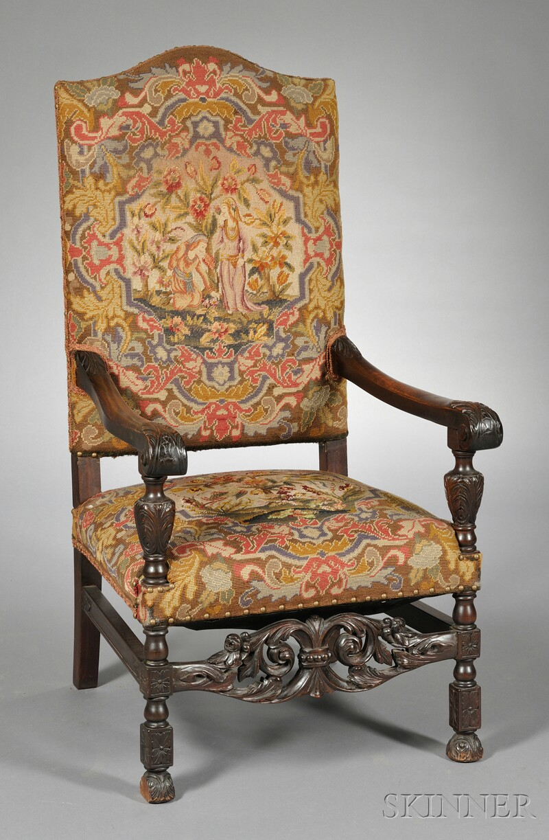 Tapestry Upholstered Armchair