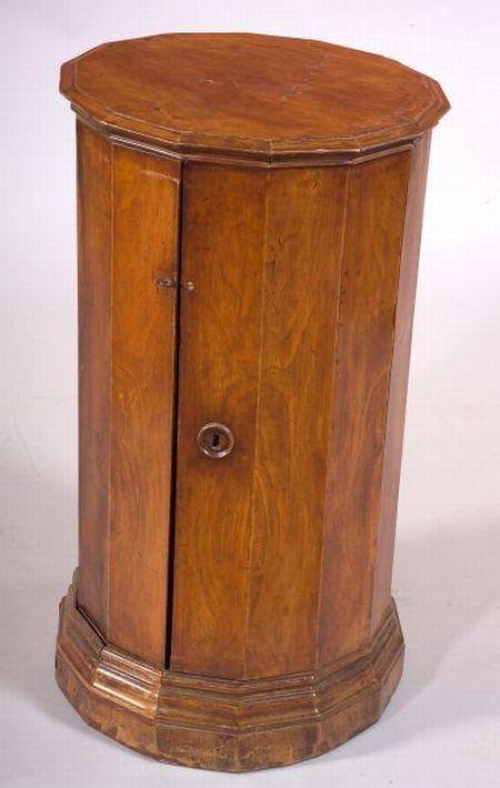 Continental Walnut Pedestal Cupboard