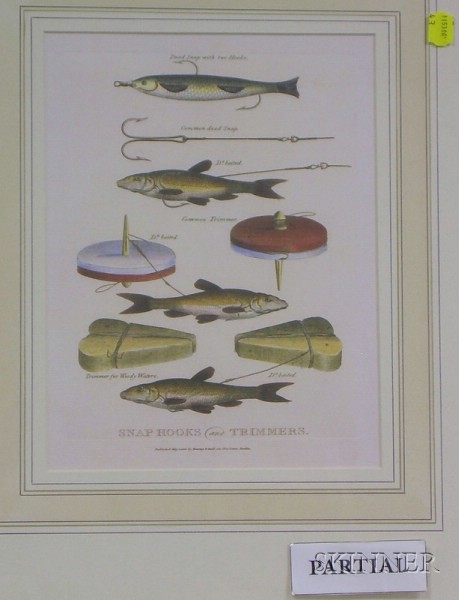 Four Framed Chromolithographs of Angling Subjects
