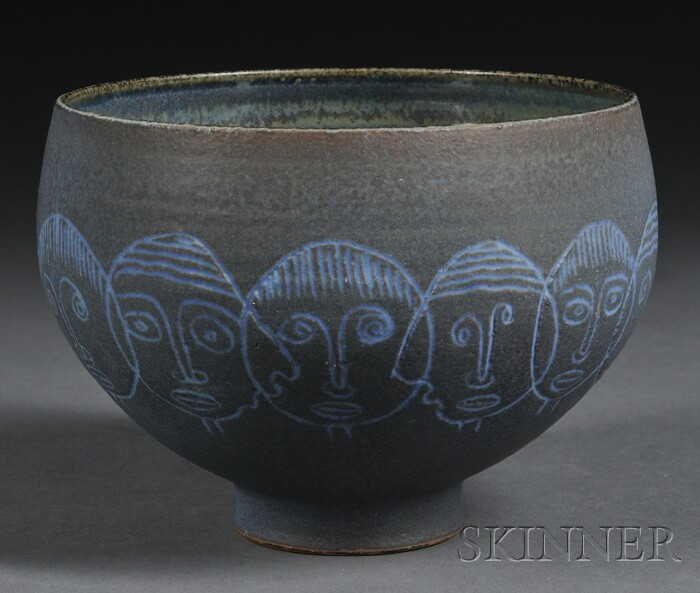 Edwin and Mary Scheier Pottery Bowl