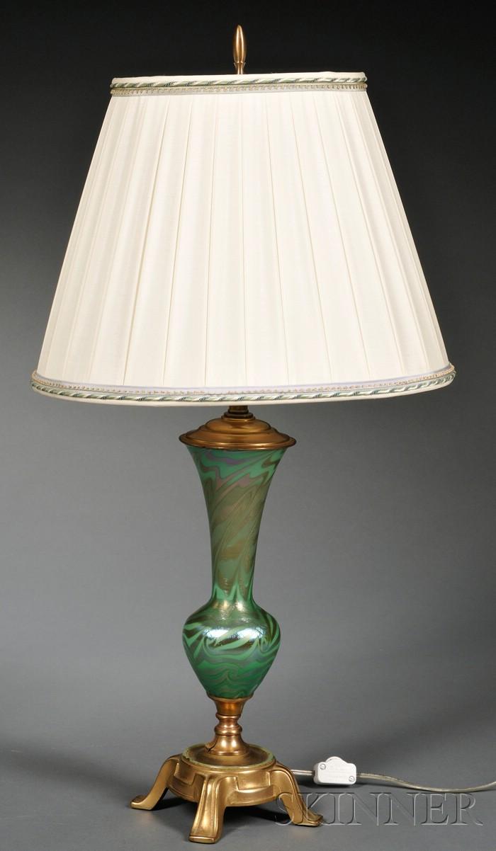 Durand Art Glass King Tut Table Lamp Base