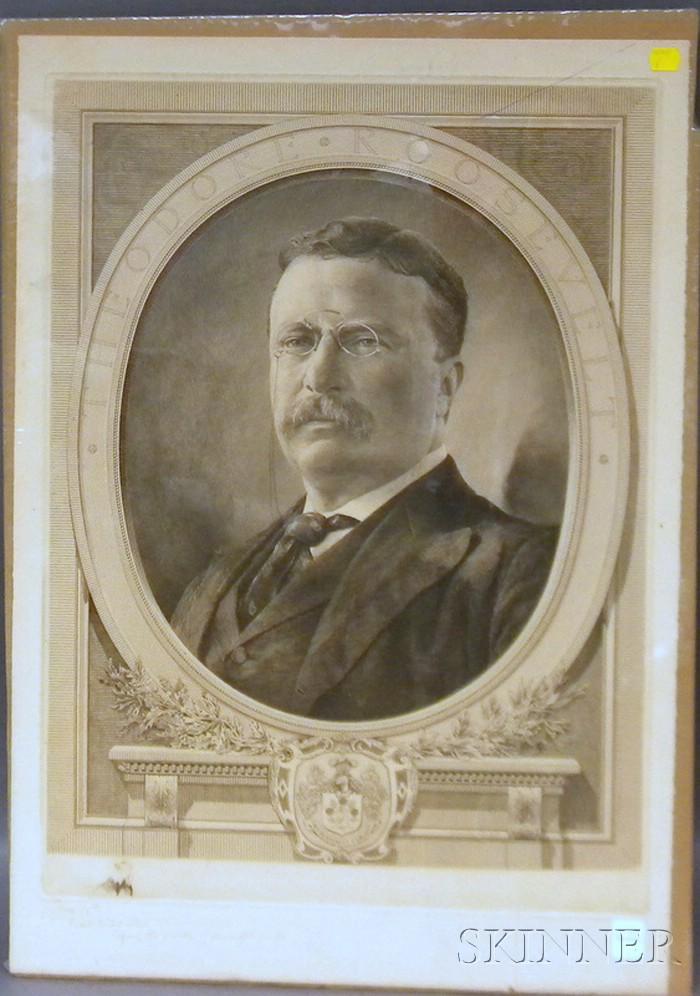 Charles Goodspeed Teddy Roosevelt Portrait Engraving