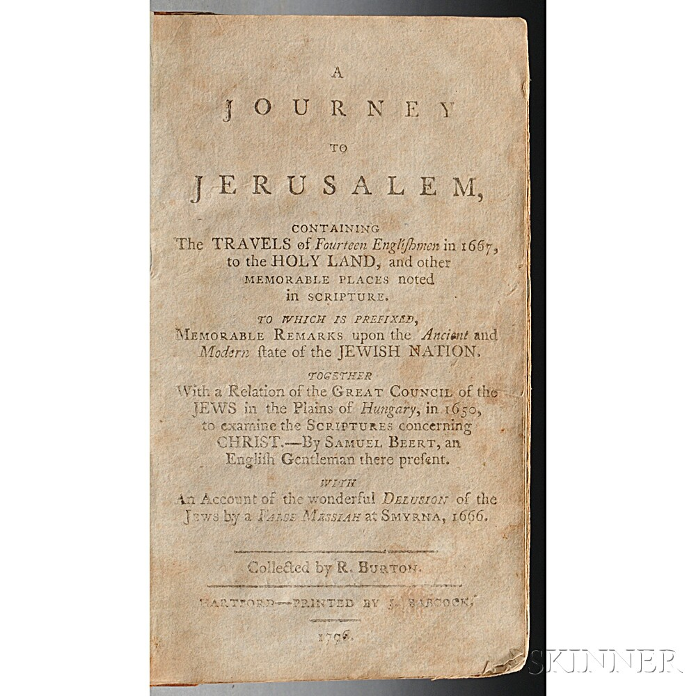 [Crouch, Nathaniel] (born c. 1632) A Journey to Jerusalem.