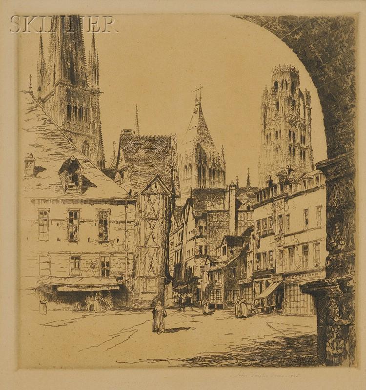 John Taylor Arms (American, 1887-1953)      Rouen
